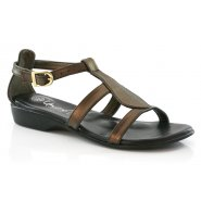 Unze Comfort Women Women Sandals - Metalic Brown