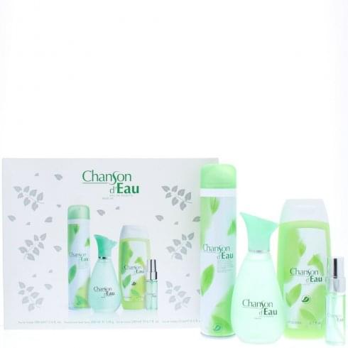 Coty Chanson d'Eau Gift Set 100ml EDT + 15ml EDT + 200ml Shower Gel