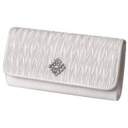 Lexus Dafne Womens Silk Diamond Flower Brooch Clutch
