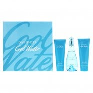 Davidoff Cool Water Woman 3 Piece Eau De Toilette 100MLBody Lotion 75MLShower Gel 75ML