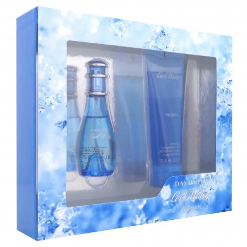 Davidoff Cool Water Woman Gift Set 30ml EDT + 75ml Shower Gel