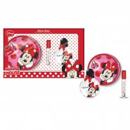 Disney Minnie Mouse Gift Set 50ml EDT Spray + Lip Gloss + Round Purse