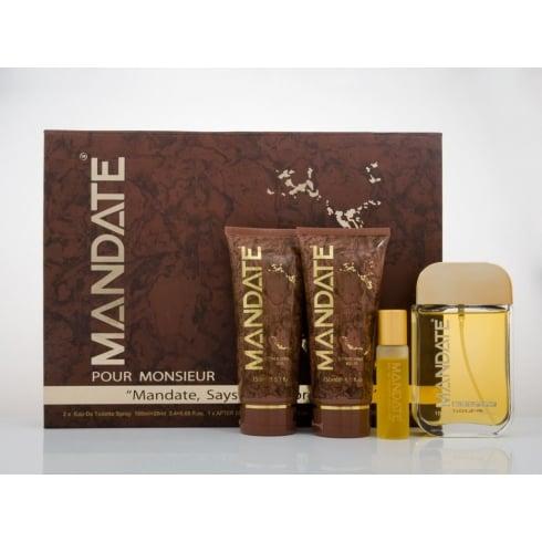 Eden Classic Mandate Gift Set 100ml EDT + 150ml Shower Gel + 150ml After Shave Balm + 20ml EDT