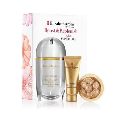 Elizabeth Arden Arden Super Start Skin Booster 5ml & Ceramide Capsules 7Pcs & Day