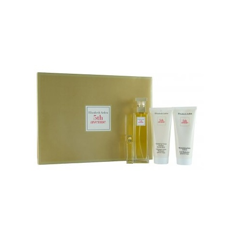 Elizabeth Arden 5th Avenue Gift Set 75ml EDP + 100ml Body Lotion + 100ml Shower Gel + Mini Spray
