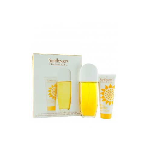 Elizabeth Arden Sunflowers Gift Set 100ml EDT Spray + 100ml Body Lotion