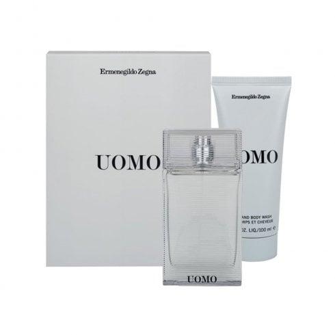 Ermenegildo Zegna Uomo Gift Set 100ml EDT + 100ml Aftershave Balm + 100ml Hair and Body Wash