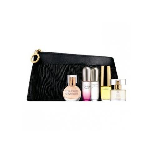 Estee Lauder 5 Piece Mini Fragrance Set with Purse