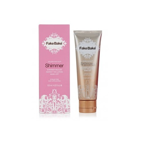 Fake Bake Shimmer Medium Instant Tan Lotion Wash Off 125ml (Boxed)