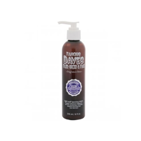 Famous Dave's Fair Skin & Face Fragrance-Free Light Self Tanning Lotion 236ml