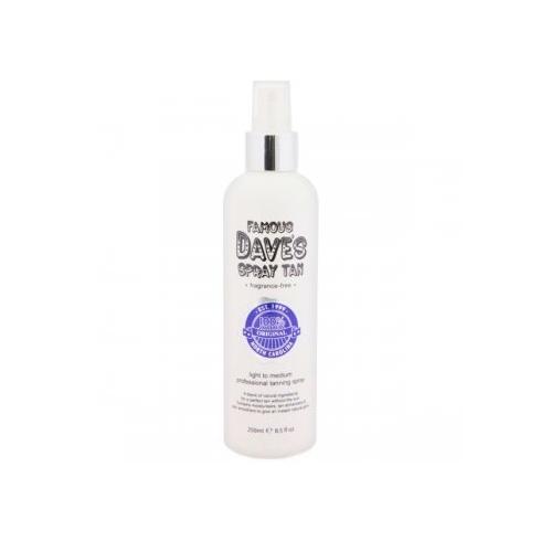 Famous Dave's Spray Tan Light to Medium Fragrance-Free 250ml Tanning Spray