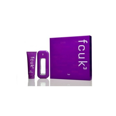 FCUK 3 100ml EDT Spray - 100ml Body Lotion