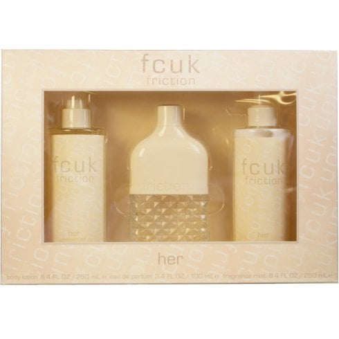 FCUK FCUK 3 for Her Gift Set 100ml EDT + 250ml Body Lotion + 250ml Fragrance Mist