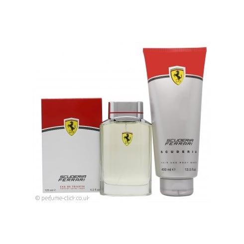 Ferrari Scuderia Eau De Toilette 75ml & Body Shower Gel 150ml Set for Him