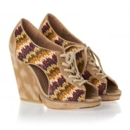 Feud Britannia Whip Sandals Wedges - Multi Coloured