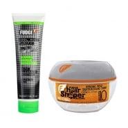 Fudge Cleanse & Shape Gift Set 300ml Cool Mint Shampoo + 75g Original Hair Shaper