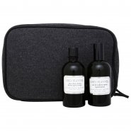 Geoffrey Beene Grey Flannel 120ml EDT Spray / 120ml After Shave / Toiletry Bag