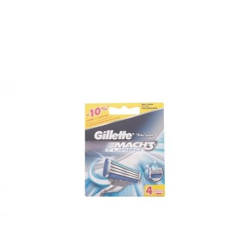 Gillette Mach3 Turbo Refill 4 Units