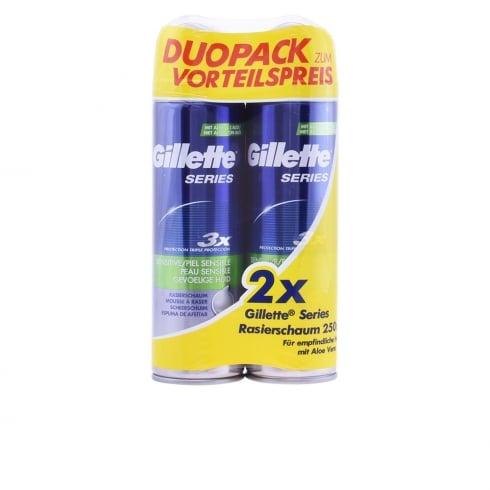 Gillette Series Shaving Foam Sensitive Skin 2x250ml