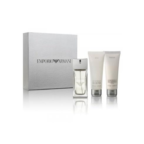 Giorgio Armani Armani Diamonds for Men 50ml EDT Spray + 75ml Shower Gel + 75ml After Shave Lotion