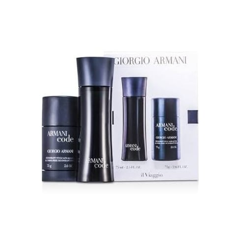 Giorgio Armani Code Gift Set 75ml EDT Spray + 75ml Deodorant Stick