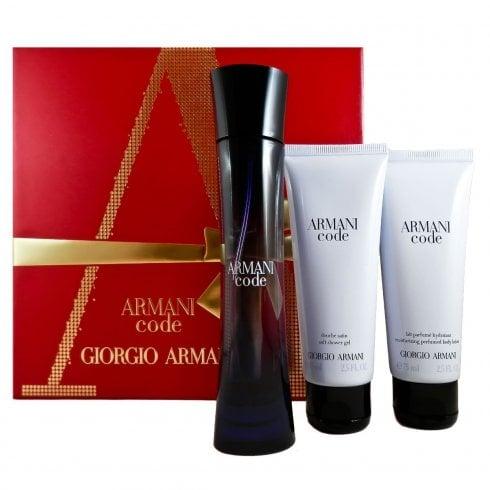 Giorgio Armani Code Pour Femme Gift Set EDP 50ml + 75ml Shower Gel +75ml Body Lotion