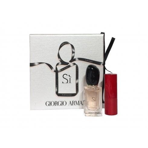 Giorgio Armani Si Gift Set 50ml EDP + 7.5ml EDP + 1.5ml Armani Rouge Ecstasy Lipstick