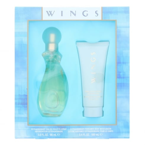 Giorgio Beverly Hills Wings 90ml EDT Spray / 100ml Perfumed Body Moisturizer