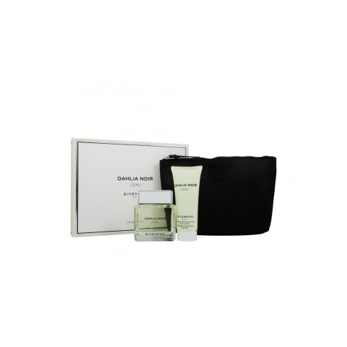 Givenchy Dahlia Noir L'Eau Gift Set 90ml EDT + 100ml Body Lotion + Pouch