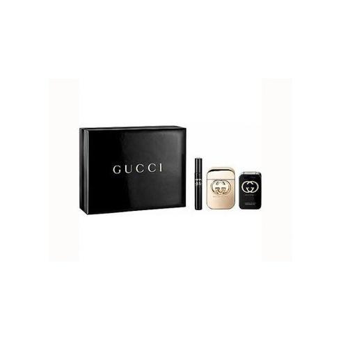 Gucci Guilty 75ml EDT Spray / 7.4ml Perfume / 100ml Body Lotion