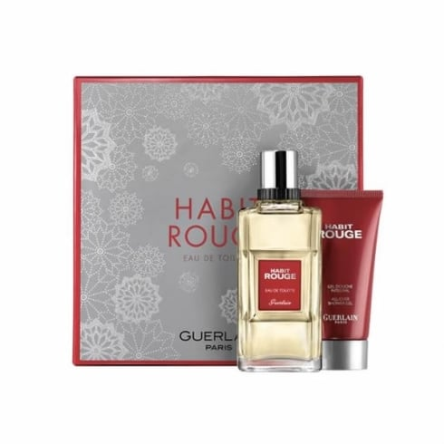 Guerlain Habit Rouge EDT Spray 100ml Set 2 Pieces