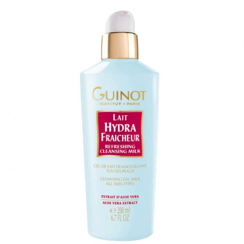 Guinot 200ml Lait Hydra Fraicheur Refreshing Cleansing Milk All Skin Types (Aloe Vera Extract)
