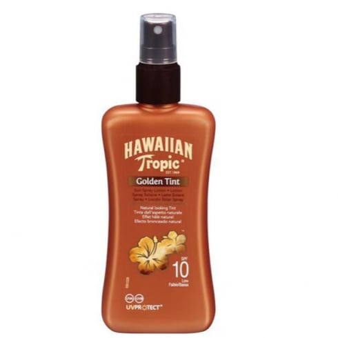 Hawaiian Tropic Golden Tint Lotion Solaire Protectrice Spray SPF10 200ml