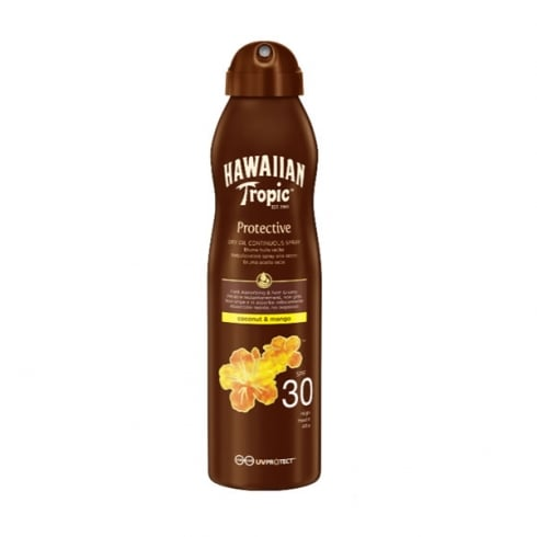 Hawaiian Tropic Protective Dry Oil Continous Spray SPF30 180ml