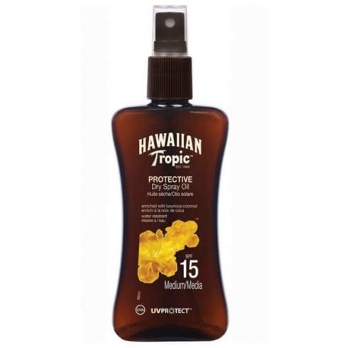 Hawaiian Tropic Protective Dry Spray Oil SPF15 Medium 200ml