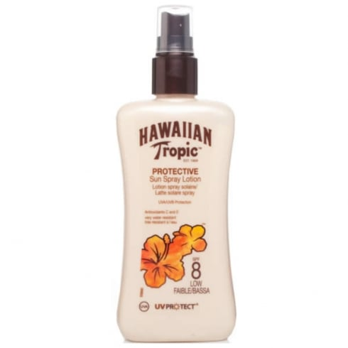 Hawaiian Tropic Protective Sun Spray Lotion SPF8 Low 200ml