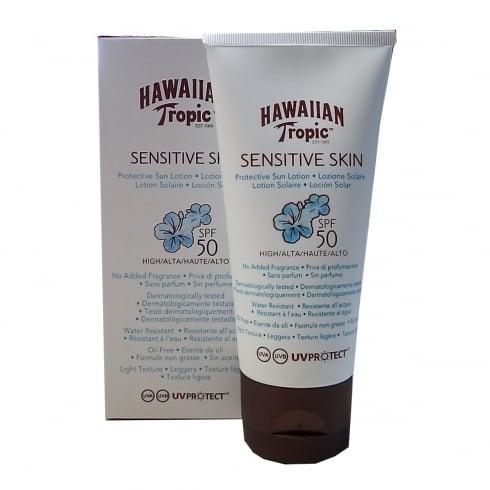 Hawaiian Tropic Sensitive Skin Protective Sun Lotion SPF50 90ml