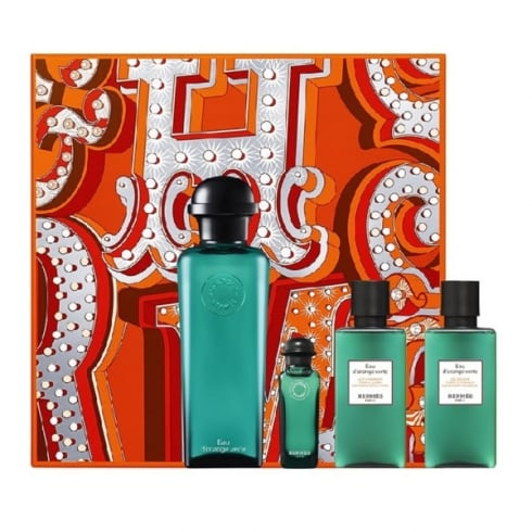 Hermes Eau D Orange Verte Eau De Cologne Spray 100ml Set 4 Pieces 2016