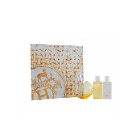 Hermes Eau Des Merveilles Gift Set 50ml EDT + 40ml Body Lotion + 40ml Shower Gel