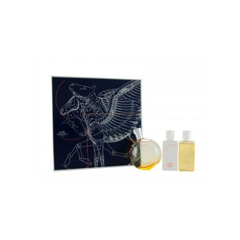 Hermes Eau Des Merveilles Gift Set 50ml EDT + 40ml Body Lotion + 40ml Shower Gel