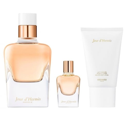 Hermes Jour d'Hermes Absolu Gift Set - 50ml EDP + 7.5ml EDP + 30ml Body Lotion