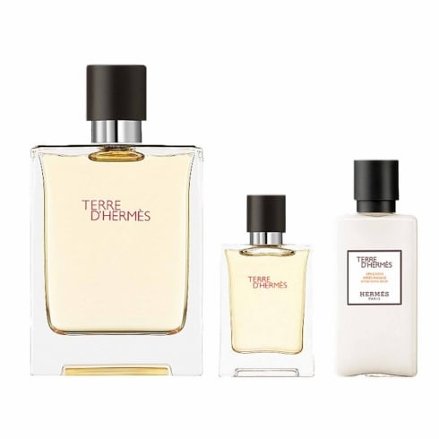 Hermes Terre d'Hermes 100ml EDT Spray / 40ml Aftershave Lotion / 12.5ml EDT...