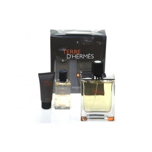 Hermes Terre D'Hermes Gift Set 100ml EDT + 40ml Shower Gel + 15ml Aftershave Balm