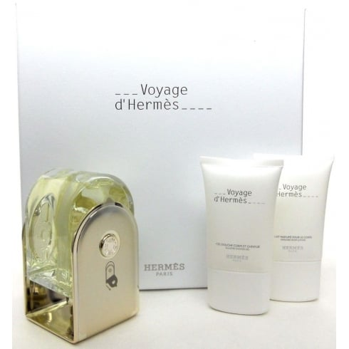 Hermes Voyage D'Hermes 100ml EDT Spray / 30ml Perfumed Body Lotion / 30ml S...