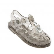 Holster 2 Stone Little Jelly Sandal - Clear Black