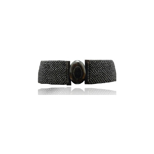 Holster Coco Oval Buckle Belt Black