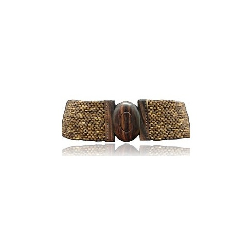 Holster Coco Oval Buckle Belt Chocolate
