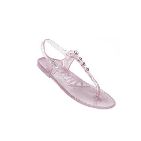 Holster Kids Glitter T-Bar Jelly Sandals - Rose Pink