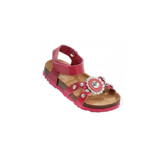 Holster Kids Leather & Micro-Fibre Sandal - Pink