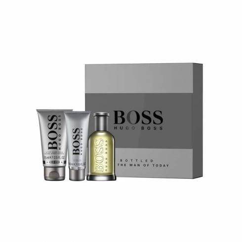 Hugo Boss Boss Bottled 100ml EDT Spray / 75ml Aftershave Balm / 50ml Shower Gel